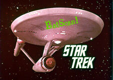 STAR TREK 1968 Original Film Slide AND Color 5x7 Photo #95 Enterprise Title LAST