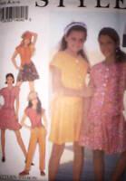 2304 Vintage UNCUT Style Sewing Pattern Girls Top Skirt Pants Shorts OOP SEW FF