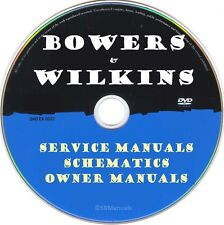 Bowers and Wilkins Service Manuals & Schematics- PDFs on DVD Ultimate Collection