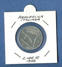 ITALIA LIRE 10 ITALMA ARATRO SPIGHE RARO 1956 Ben conservata