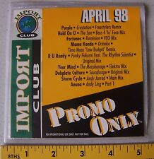 1 Promo Only  Import Club Series CD  April 98  New  Music  DJ