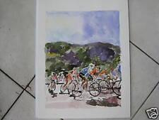 "Tour de France/ Watercolor Print/ 9""x12"" by Mimi Davis"