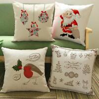 Christmas Printing Dyeing Cotton Sofa Bed Pillow Case Cushion Cover Home Decor