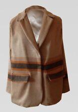 Flannel Wool Cape Blazer