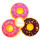 3Pcs Inflatable Floating Donut Swimming Pool Beach Beverage Drink Can Cup Holder
