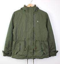 Jack Wills Albert Sherpa Lined Womens Outdoor Khaki Green Parka Coat - UK 10