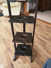 Antique Folding Cake Stand, Anglo Indian, Superb Quality Carving