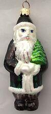 Christopher Radko Russian Santa Claus Black Robe Xmas Tree Ornament
