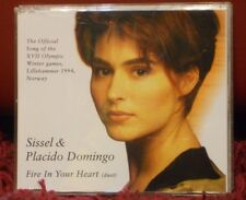 SISSEL & PLACIDO DOMINGO - FIRE IN YOUR HEART duet - nuovo 1994