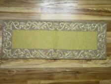 GLISTENING GOLD & CHAMPAGNE GLASS BEADED TABLE RUNNER~13x35 ~NEW