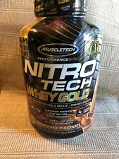 Muscletech Nitro Tech WHEY GOLD Protein 5.5 lb, 76 Serving DOUBLE RICH CHOCOLATE