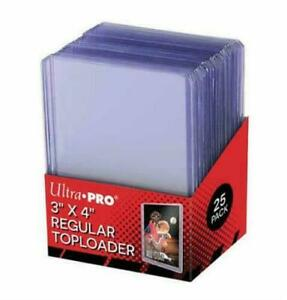 Ultra Pro - 3 x 4 Inch Toploaders Clear 25 Pack - for Pokemon card protection