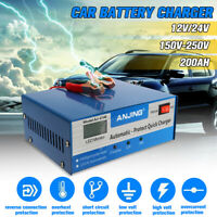 Smart Car Battery Charger Pulse Repair 200AH for Boat Motorcycle Caravan 12V 24V
