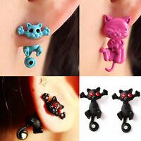Women 3D Cat Stud Earings Chic Cute Cat Earrings Charm Jewelry Earrings Chic JP