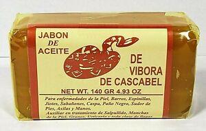 JABÓN ACEITE DE VÍBORA ACNE RATTLESNAKE SOAP 5.3 oz. EACH HECHO EN MEXICO