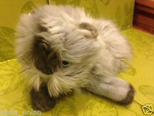 """Ty Smokey Cat Kitty Grey Himalayan Persian Maine Coon 17"""" Long Haired Plush Toy"""