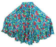 6 niveles de Danza del Vientre Falda Hippie Bohemio Gypsy Patchwork Talla 8 10 12 14 16 18 20