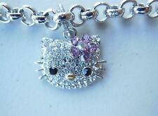 Hello Kitty Silver Bracelet with Crystals