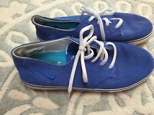NIKE 6.0 Brata Royal Blue Suede Shoes Sneakers Men's Size 8 Nice!