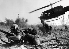 "Battle of la Drang with a Huey UH-1D 13""x 19"" Vietnam War Photo Poster #29"