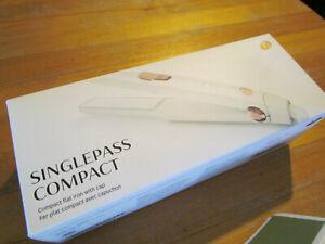 T3 SinglePass Compact Styling Iron White & Rose Gold Custom Ceramic