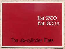 FIAT 2300 & 1800 B Car Sales Brochure c1964 #1776 SPECIAL SALOON Station Wagon