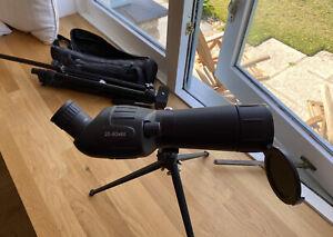 Zennox 20-60x60 HD Spotting Scope -2x Tripods for 45 Degree Angled Telescope Use