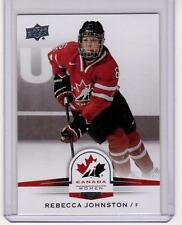 REBECCA JOHNSTON 14/15 Upper Deck Women's Team Canada Juniors #149 High # SP