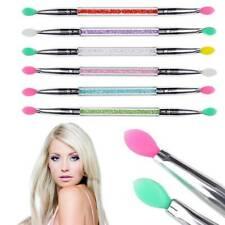 1 pc Double End Silicone Eyeshadow Brush Rhinestone Makeup Brush Cosmetic Tools