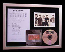SURVIVOR Eye Of The Tiger CD TOP QUALITY MUSIC FRAMED DISPLAY+FAST GLOBAL SHIP