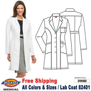 Dickies Scrubs LAB COATS Women's Fashion 37 Inch Lab Coat 82401