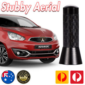 Antenna / Aerial Stubby Bee Sting for Mitsubishi Mirage Black Carbon 3.5 CM