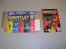 Gauntlet Legends (Nintendo 64 N64) Original Box and Manual, No Game