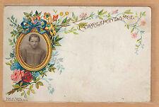 Carte Photo vintage card RPPC fillette souvenir d'école pz0331