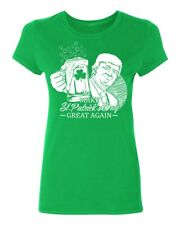 Trump Make St Patrick's Day Great Again Women's T-shirt funny drinking tee