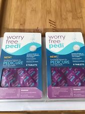 Two Worry Free Pedi Sanitizing Tablets For Pedicure. 8 Tablets Each. New