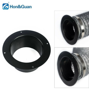 """Hon&Guan 4'' 5"""" 6'' ABS Straight Pipe Flange Ventilation Fan  Ducting Connector"""