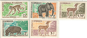 Cameroon - 1962 Postage Stamps - Animals
