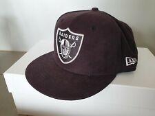 Genuine Oakland Raiders suede New Era Snapback Black Snap Back Hat Cap white nfl