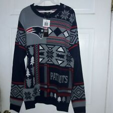 New England Patriots football holiday Christmas Ugly Sweater Shirt NFL Pats M