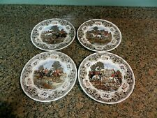 4 CHURCHILL HERRING'S HUNT PLATES THE FIND MEET FULL CRY BREAKING COVER