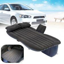 Flocking Car Inflatable Air Bed Backseat Mattress Mat+2 Pillow Travel     09