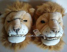 Plush Lion Slippers Adult XL 13-14 Novelty Fluffy Stuffed