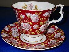 Royal Albert Chintz BALMORAL  MERRIE ENGLAND SERIES Bone China Cup & Saucer