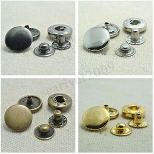 10/12/15/17mm Coloré Bouton Pression Popper Couture Goujon Appuyer Cuir  NF !