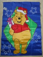 "Christmas Pooh Decorative flag NWT, 28"" x 40"""
