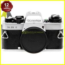 Fotocamera Rollei Rolleiflex SL35 E Silver reflex a pellicola usata. SL 35 body.