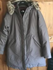 NORTH FACE women's ARCTIC PARKA 550 Goose Down. Medium. Rare Rabbit Grey colour.