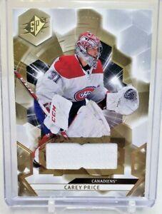 2020-21 Upper Deck SPx Jersey Relic Carey Price Montreal Canadiens #31 20-21