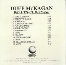 Duff McKagan: Beautiful Disease Advance PROMO MUSIC CD Guns N' Roses GNR Album